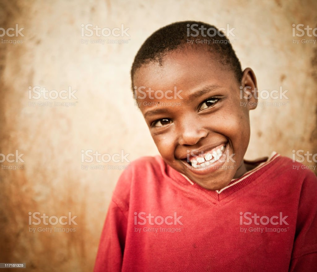 Portrait of a Young African Girl royalty-free stock photo