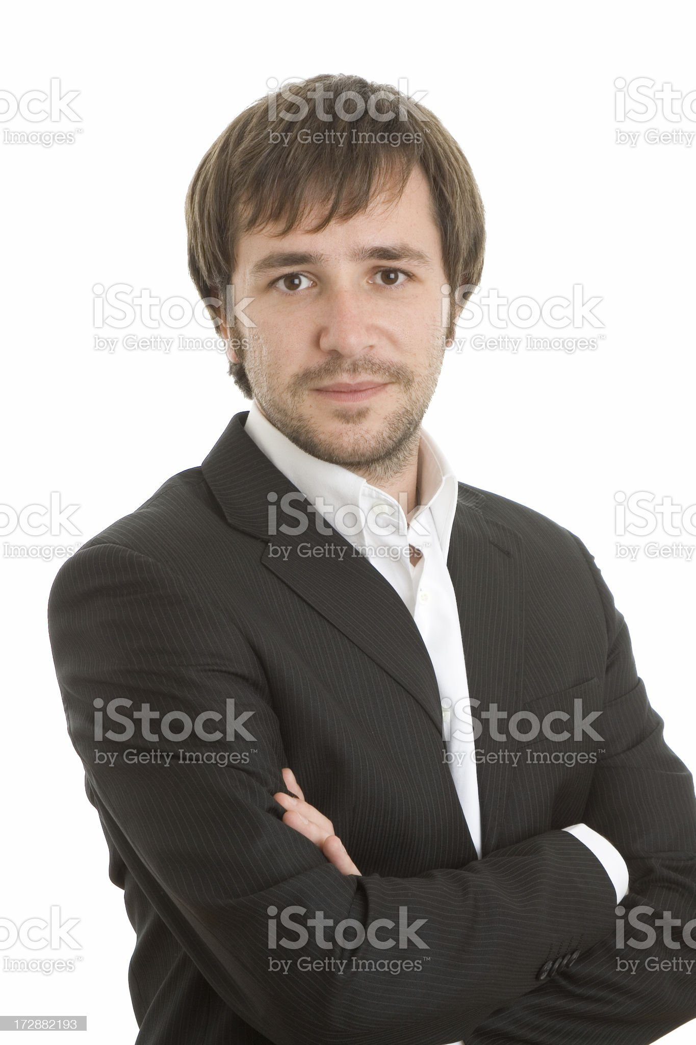 Portrait of a young and serious executive royalty-free stock photo
