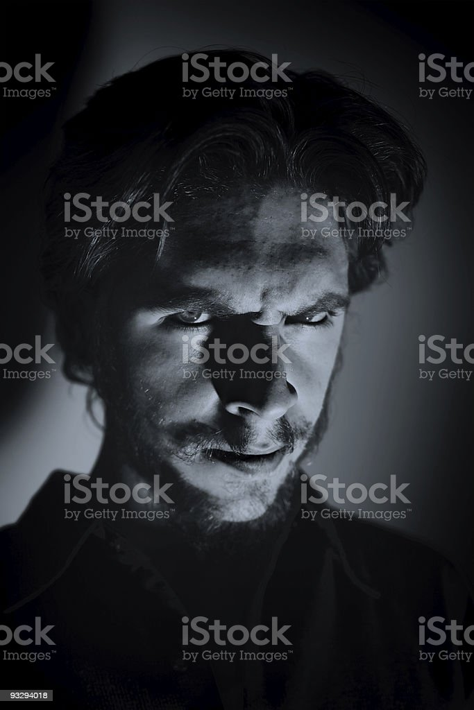 Portrait of a young angry man royalty-free stock photo
