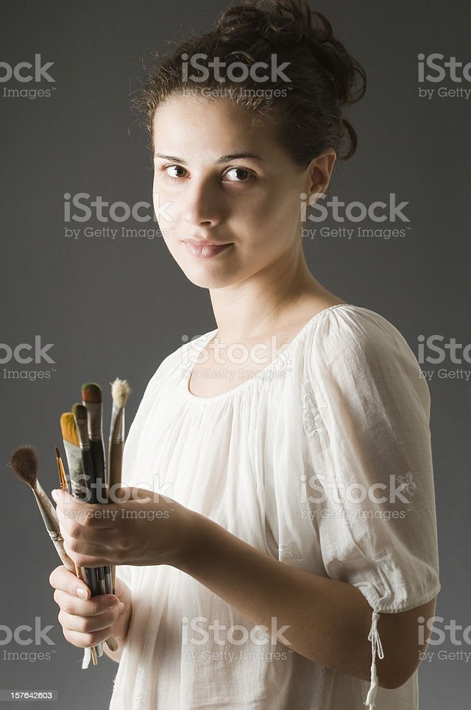 Portrait of a young artist stock photo