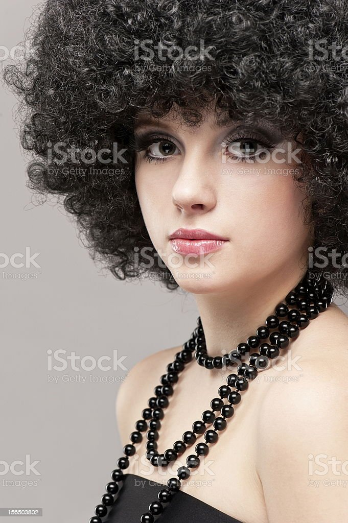 Portrait of a young beautiful girl royalty-free stock photo