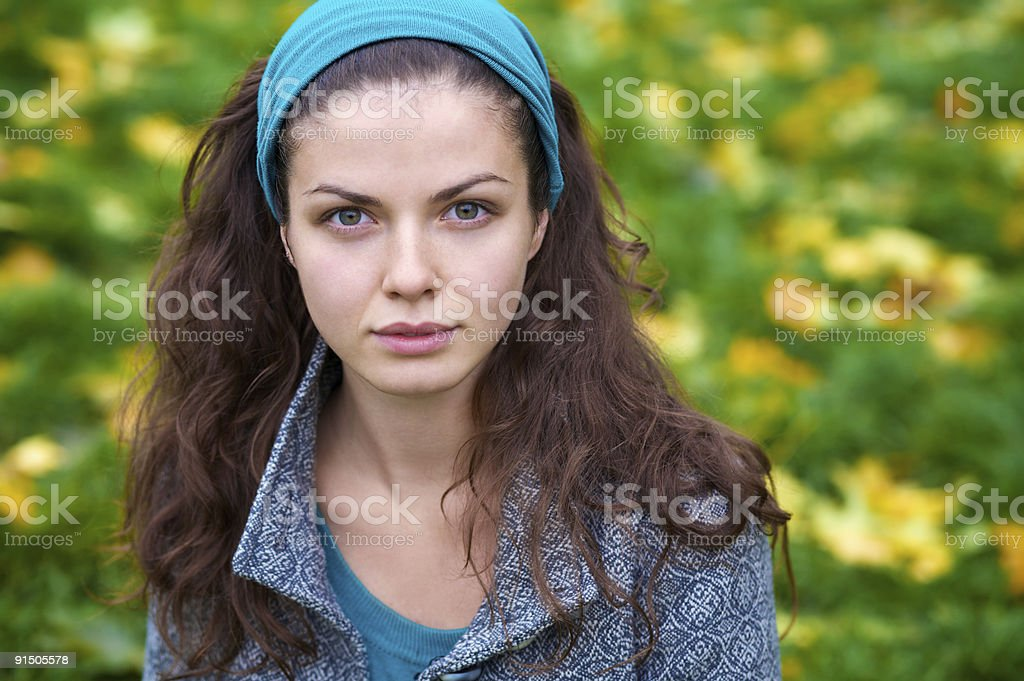Portrait of a young beautiful woman royalty-free stock photo