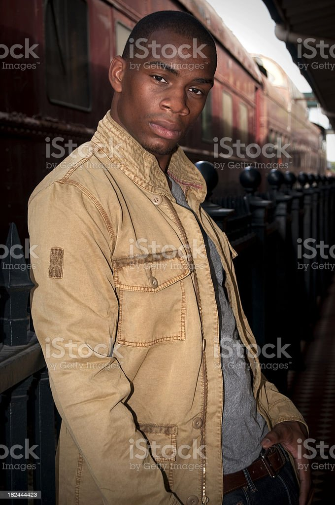Portrait of a Young Black Man royalty-free stock photo