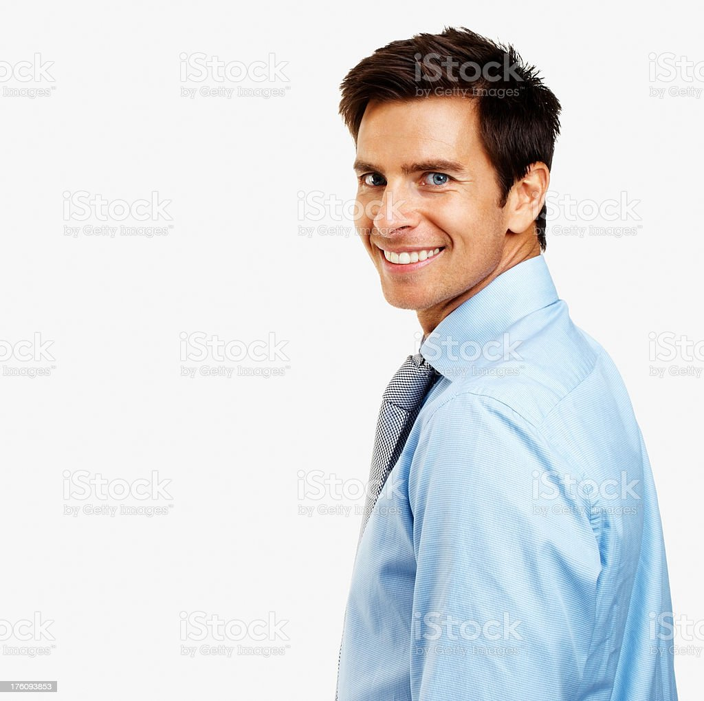 Portrait of a young businessman smiling royalty-free stock photo