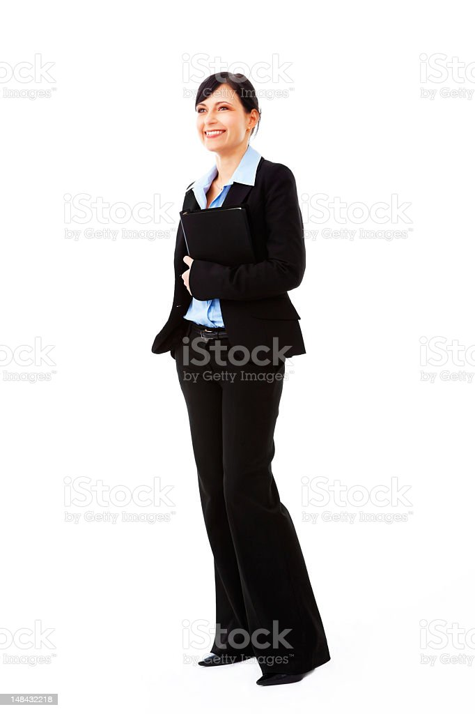 Portrait of a young businesswoman stock photo
