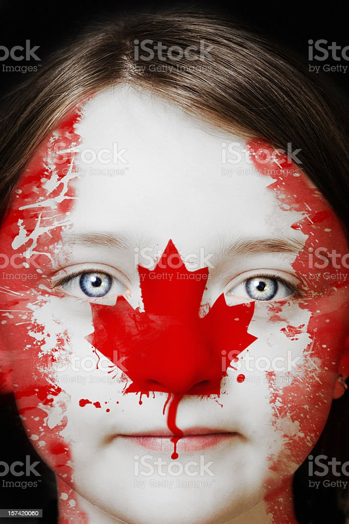 Portrait of a young Canadian girl royalty-free stock photo