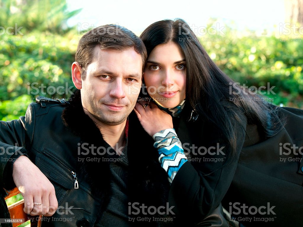 Portrait of a young couple. stock photo