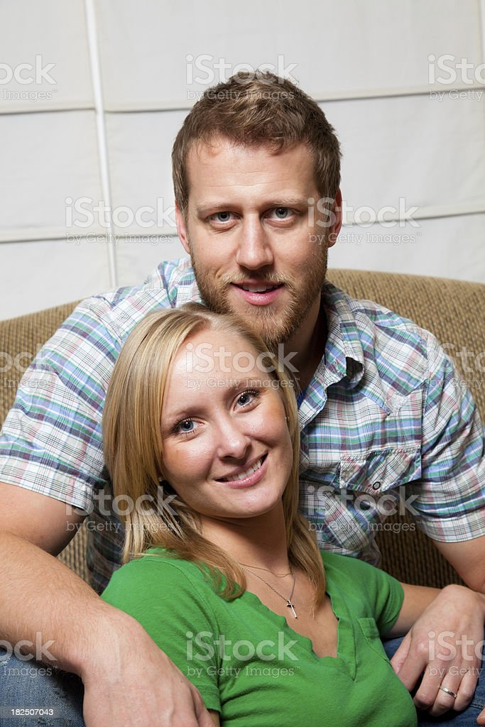 Portrait of a young couple stock photo