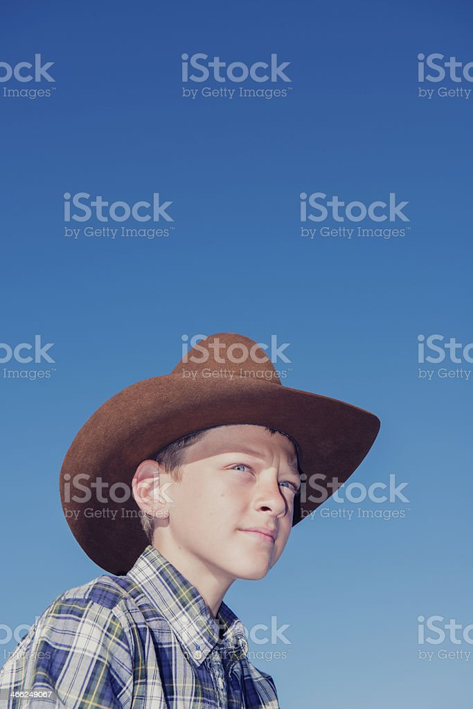 Portrait of a Young Cowboy royalty-free stock photo