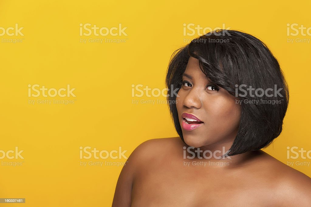 Portrait of a young ethnic woman royalty-free stock photo
