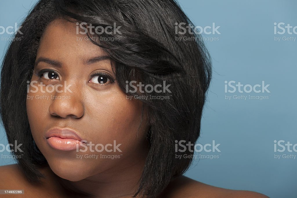 Portrait of a young ethnic woman stock photo