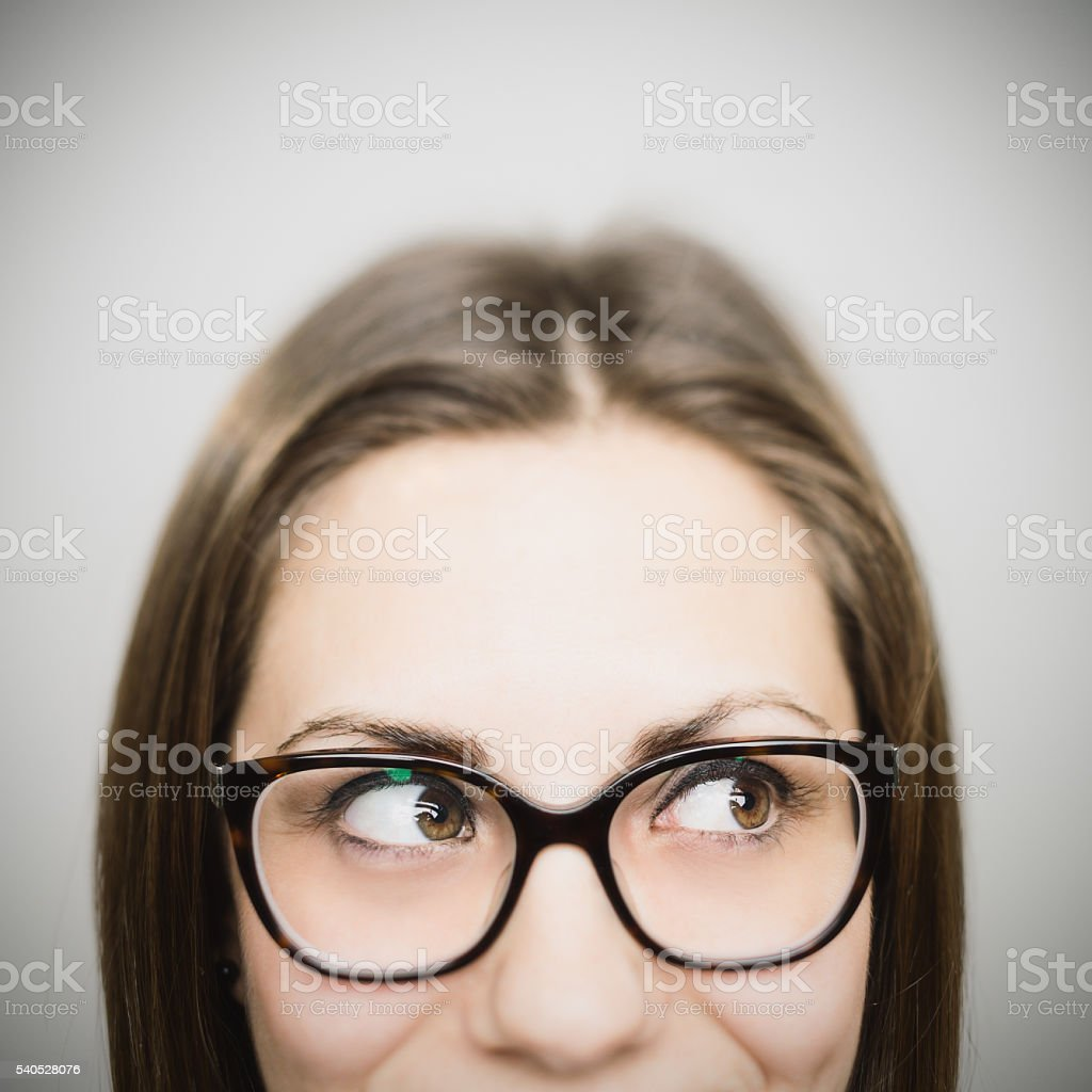 Portrait of a young european woman stock photo