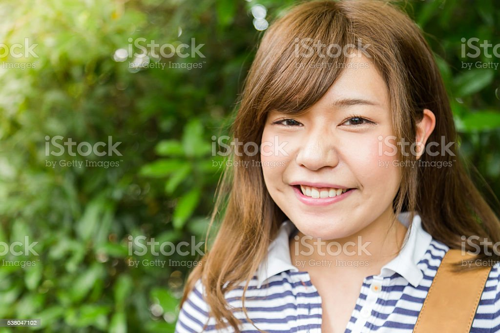 Portrait of a Young Female College Student stock photo