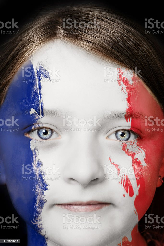 Portrait of a young french girl royalty-free stock photo