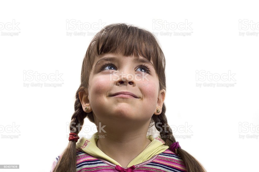 Portrait of a young girl. royalty-free stock photo