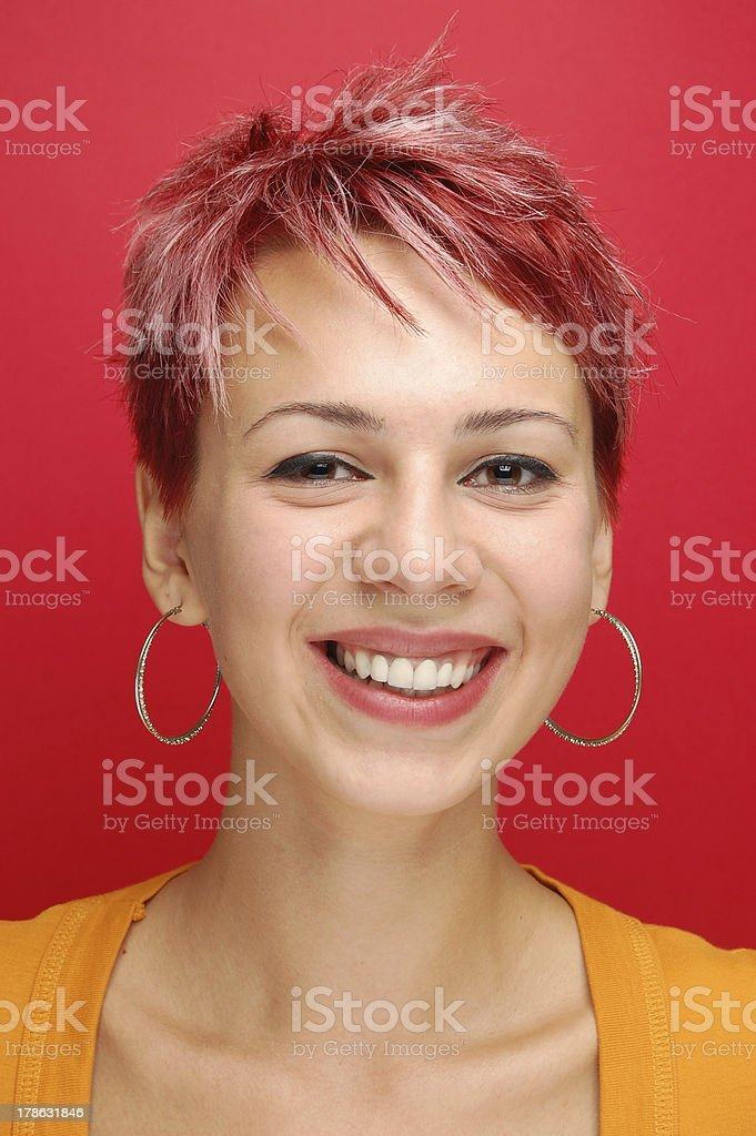 portrait of a young girl with red hair royalty-free stock photo