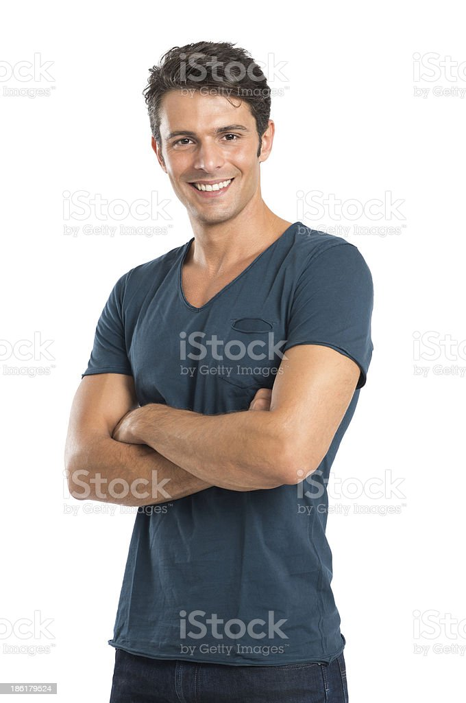 A portrait of a young handsome man stock photo