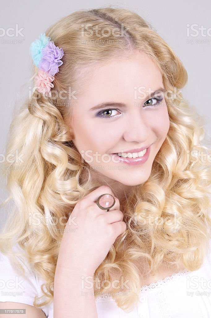 Portrait of a young happy attractive girl royalty-free stock photo