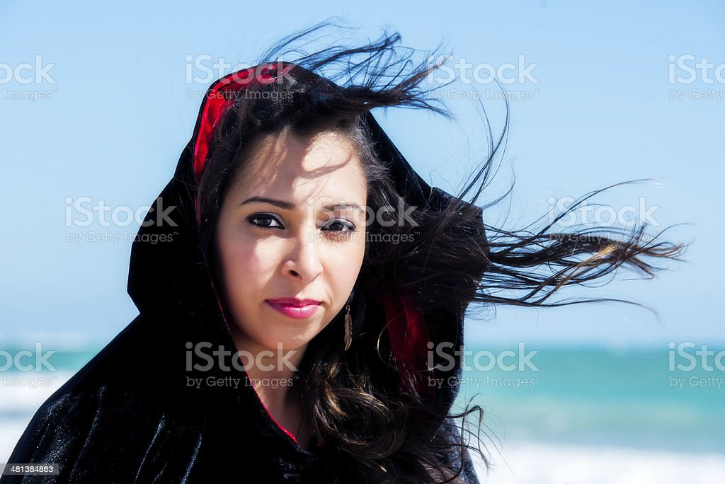Portrait of a Young Hispanic Woman stock photo