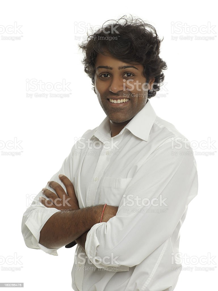 portrait of a young Indian man royalty-free stock photo
