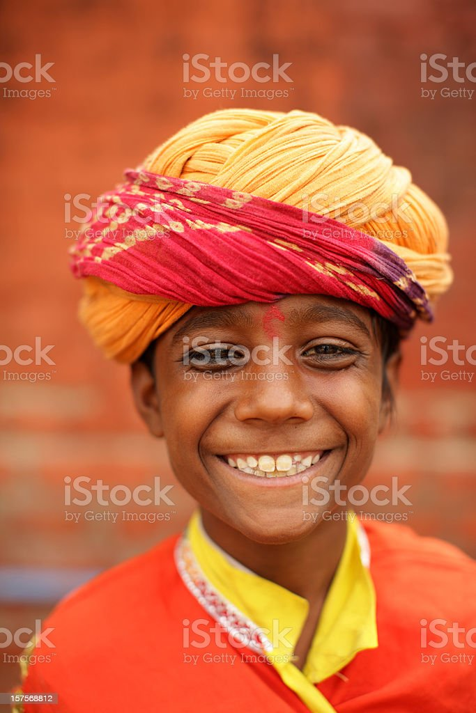 Portrait of a young Indian stock photo