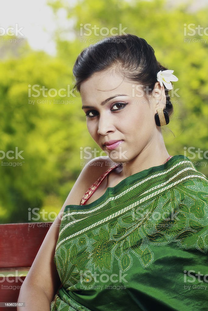 Portrait of a Young Indian Woman stock photo