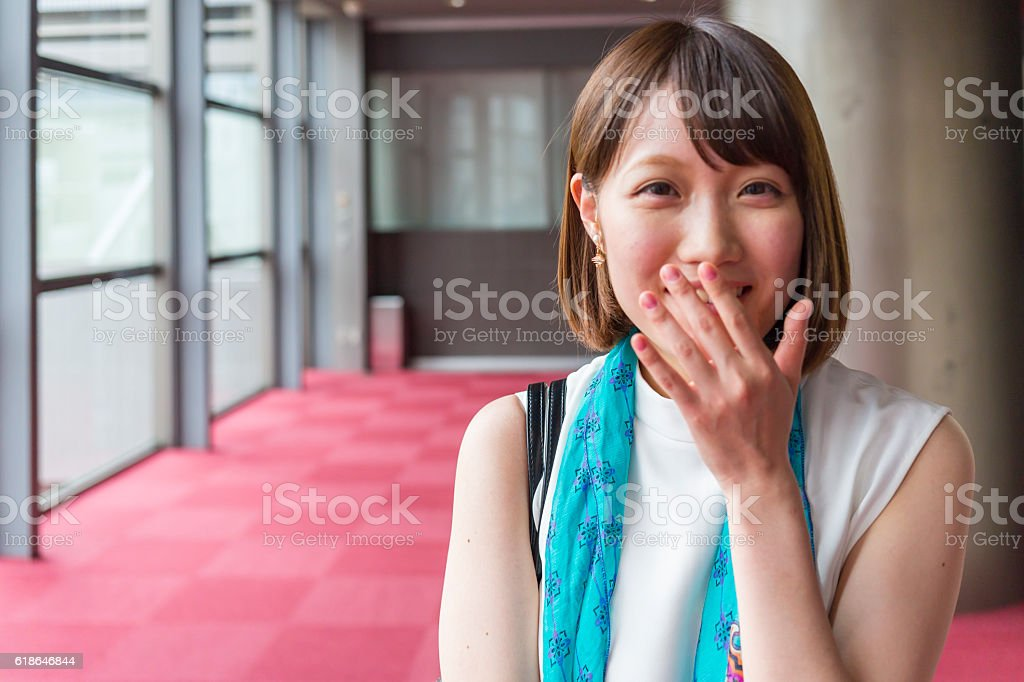 Portrait of a Young Japanese Business Woman stock photo