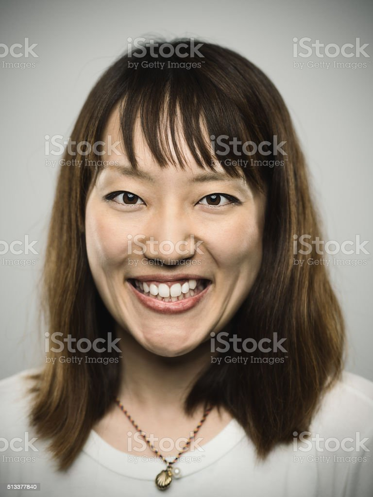Portrait of a young japanese woman. stock photo