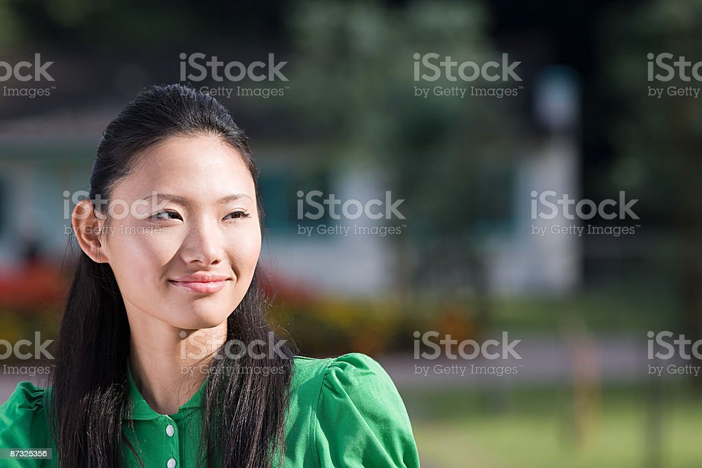 Portrait of a young japanese woman stock photo