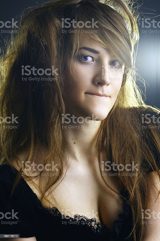 Portrait of a young lady royalty-free stock photo