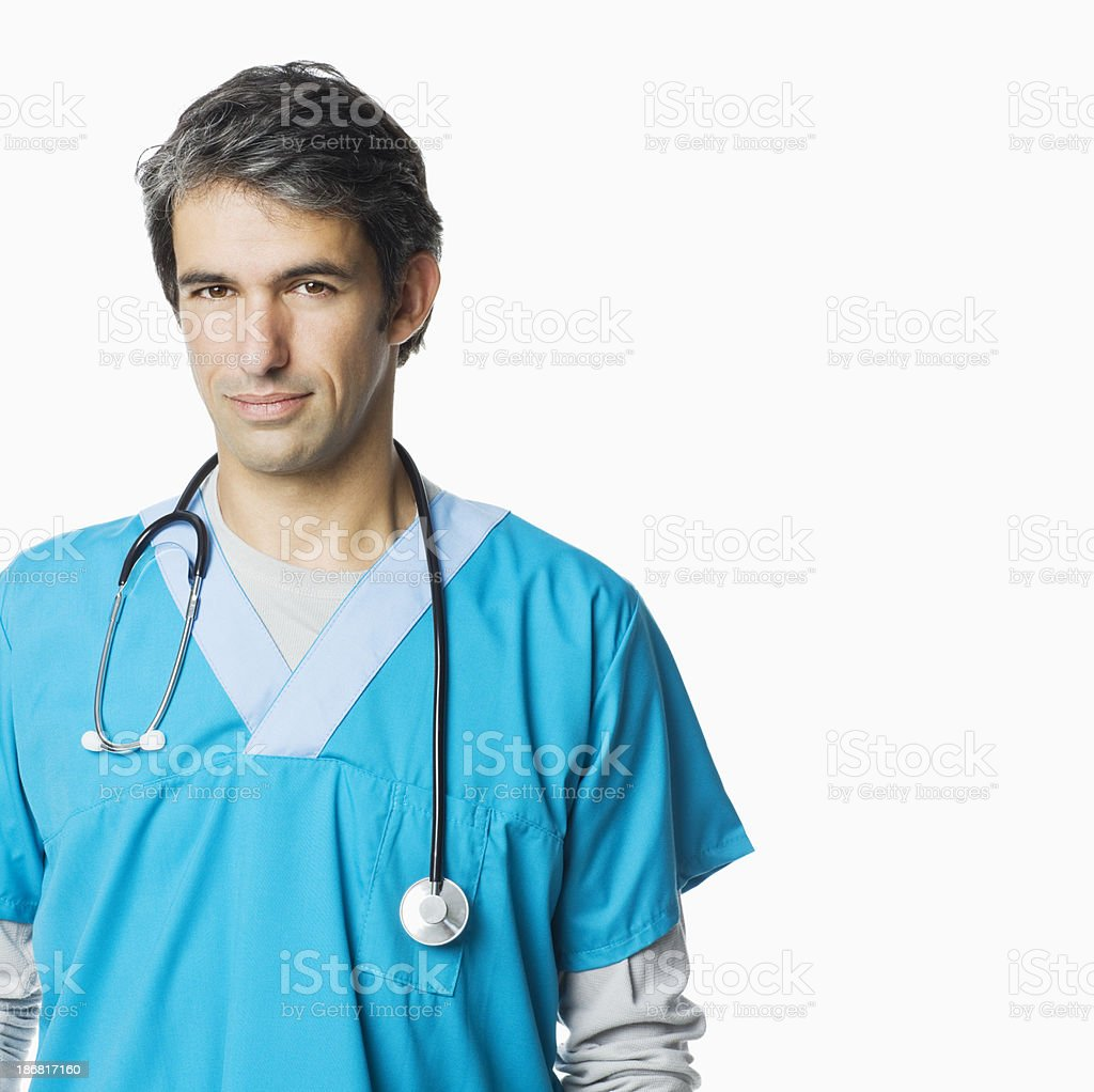 Portrait of a Young Male Medical Professional - Isolated royalty-free stock photo