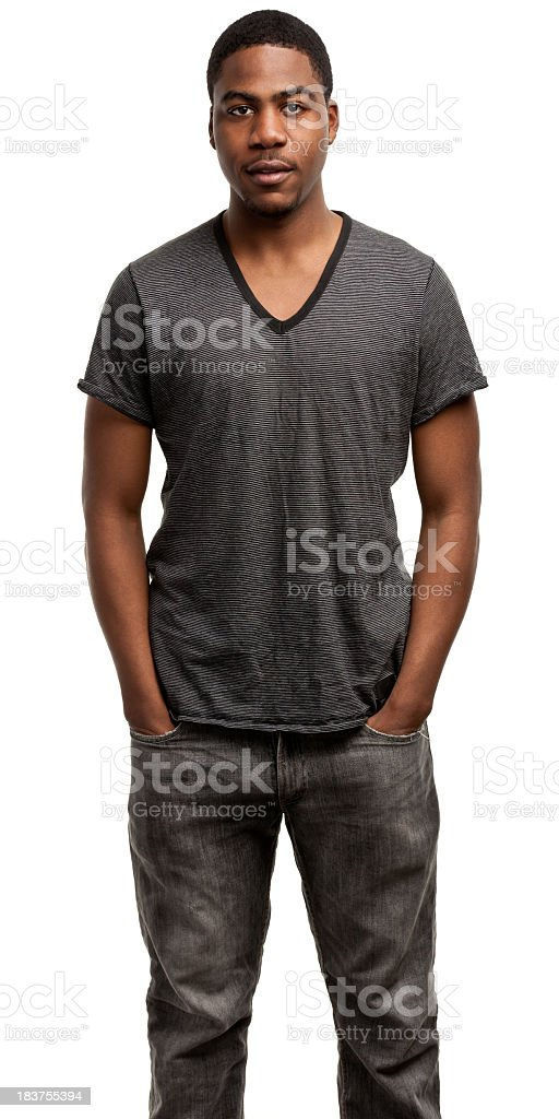 Portrait of a young male with his hands in his pockets royalty-free stock photo
