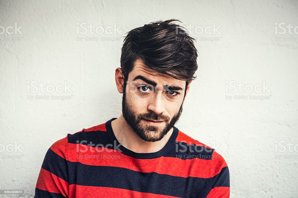 Portrait Of A Young Man From Paris stock photo