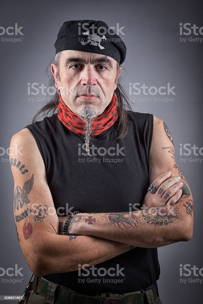 Portrait of a young man looking at the camera European stock photo