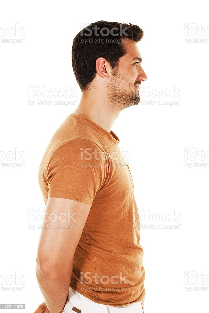 Portrait of a  young man stock photo