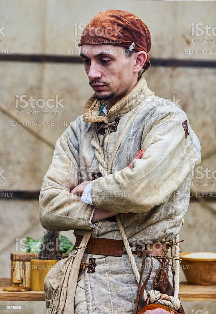 Portrait of a Young Medieval Man royalty-free stock photo