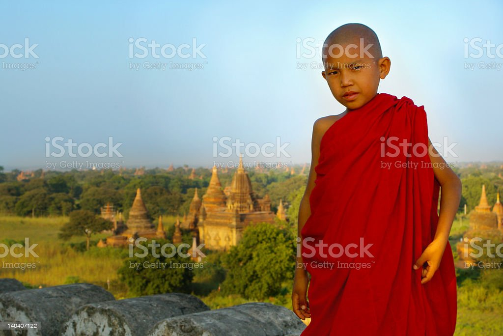 portrait of a young monk royalty-free stock photo