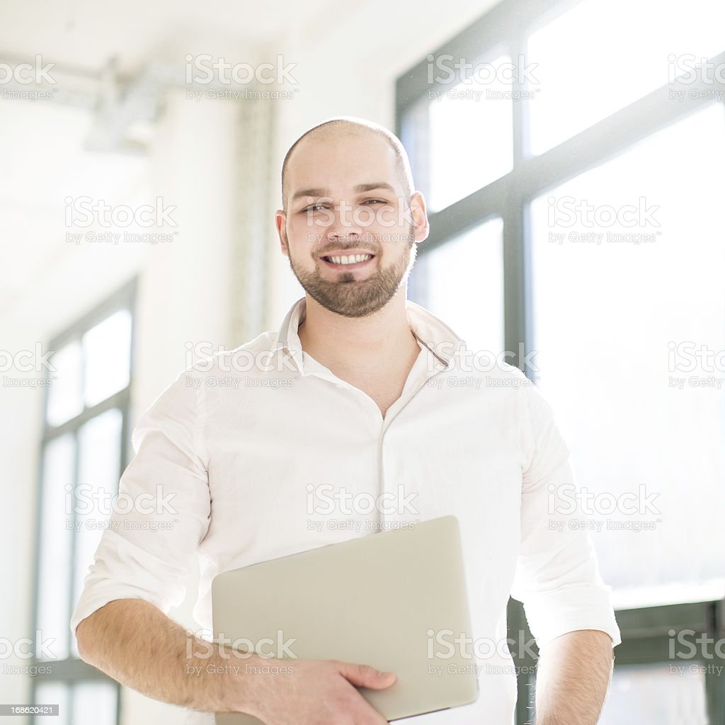 Portrait of a young proud man royalty-free stock photo