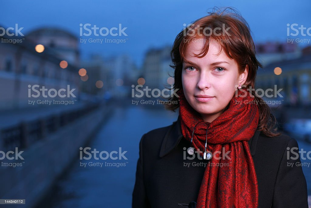Portrait of a young redhead woman royalty-free stock photo