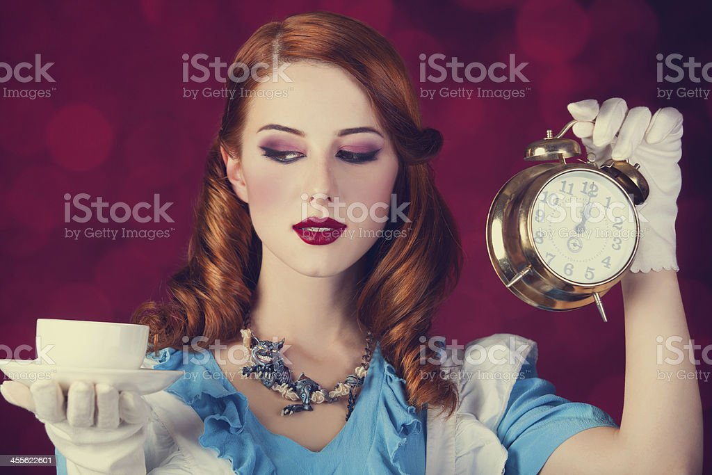 Portrait of a young redhead woman stock photo