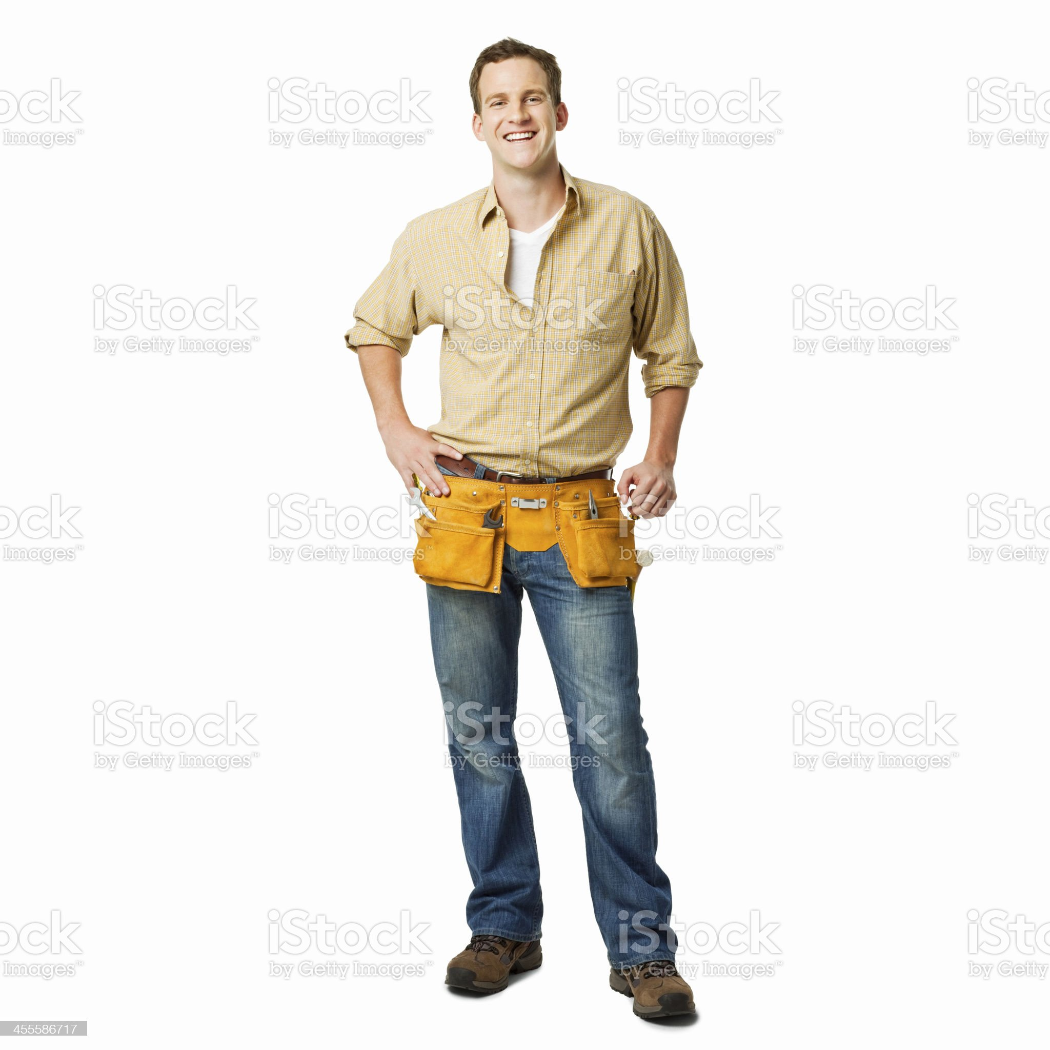 Portrait of a Young Repairman - Isolated royalty-free stock photo