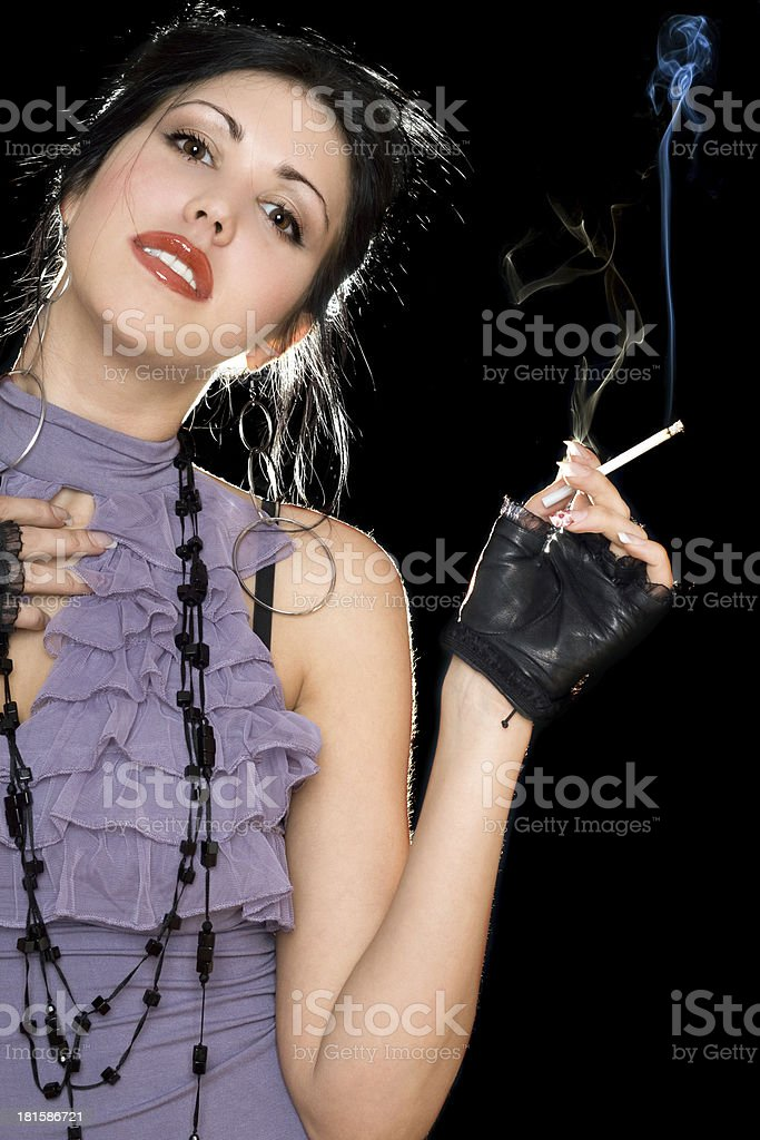 Portrait of a young smiling brunette royalty-free stock photo