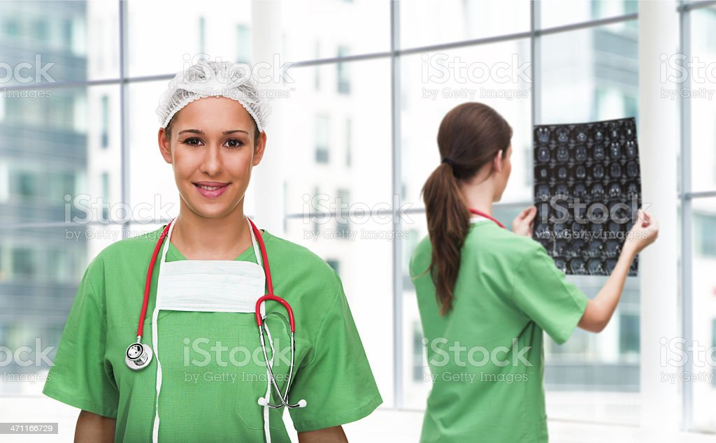 Portrait of a young surgeon royalty-free stock photo