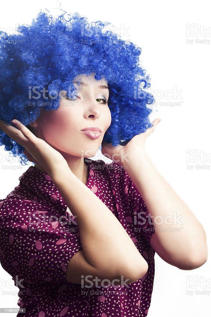 Retrato de una mujer joven payaso foto de stock libre de derechos