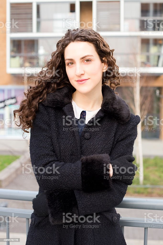 portrait of a young woman royalty-free stock photo