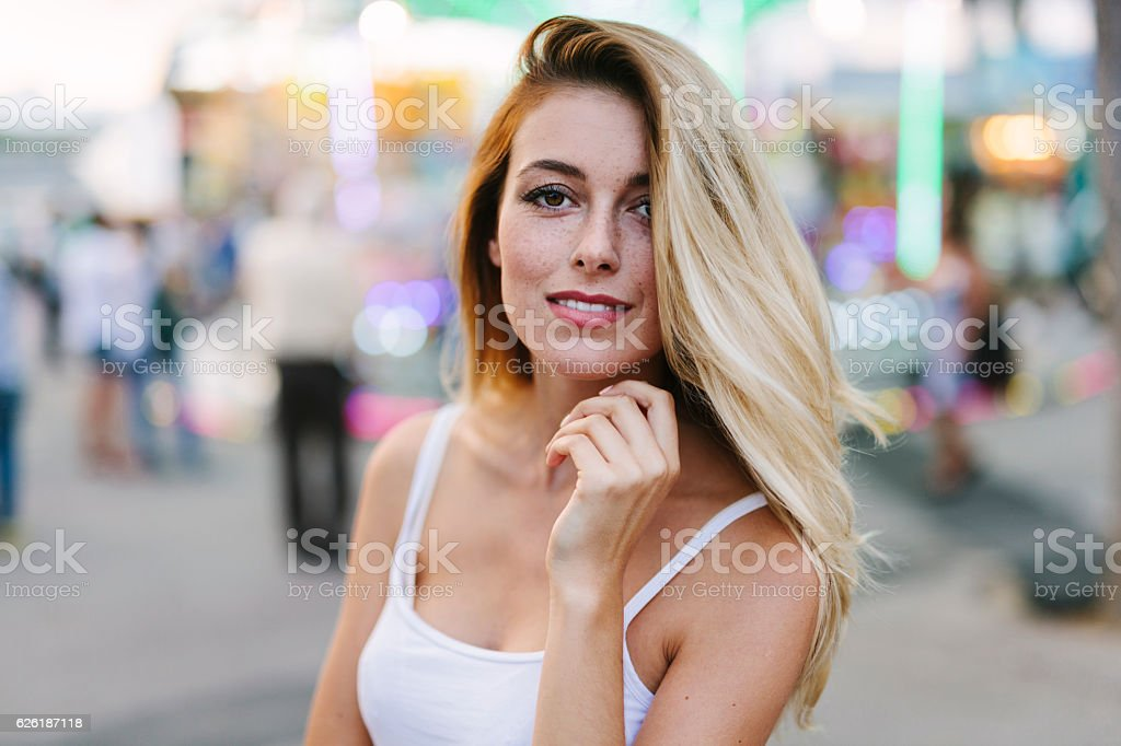 Portrait of a Young Woman stock photo