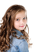 Portrait of adorable smiling  little girl isolated