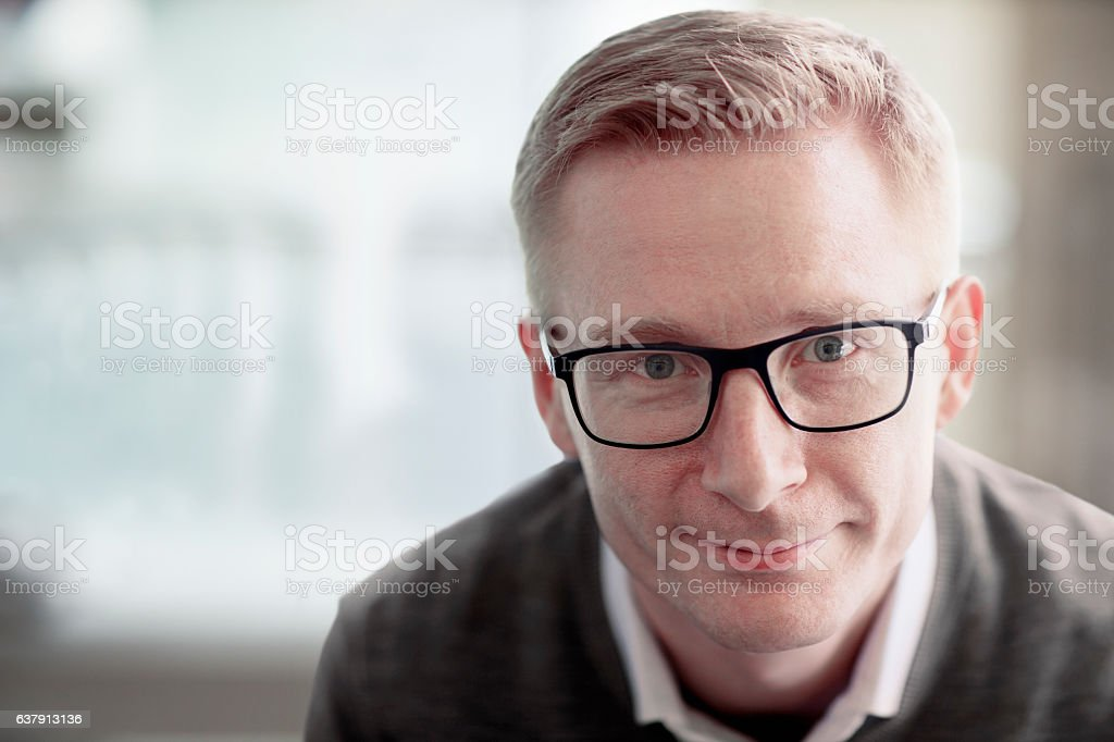 Portrait of adult man stock photo