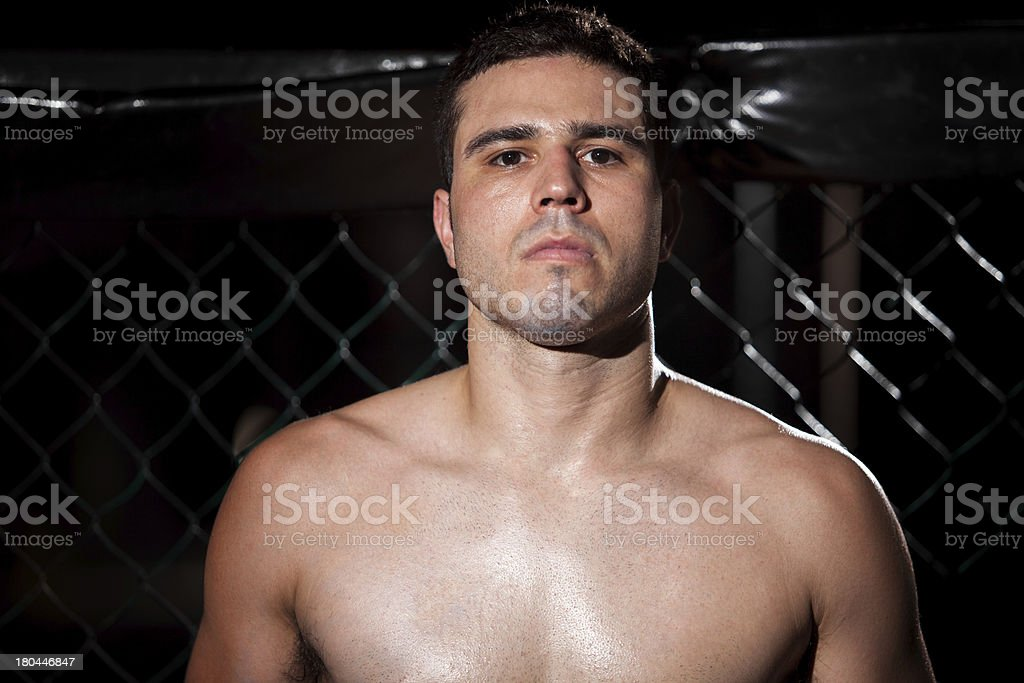 Portrait of aFighter royalty-free stock photo