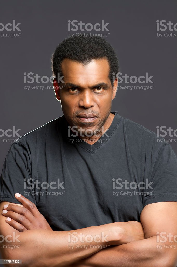 Portrait of African American royalty-free stock photo